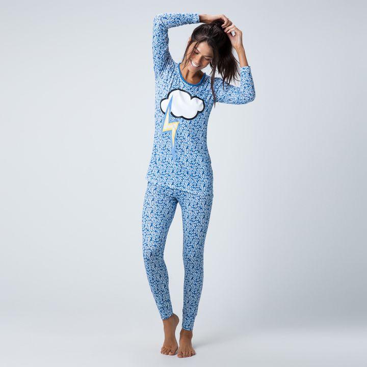 Pijama Longo Malha Apple