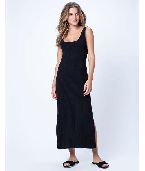 Vestido-Midi-Canelado-Ellen