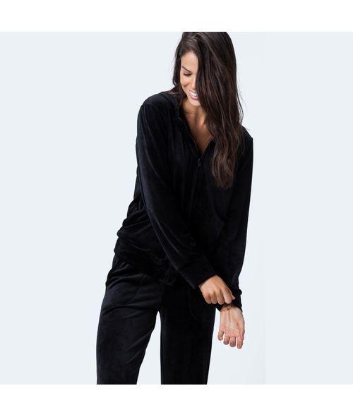 Pijama-Longo-Aberto-Frente-Veludo-Kayla