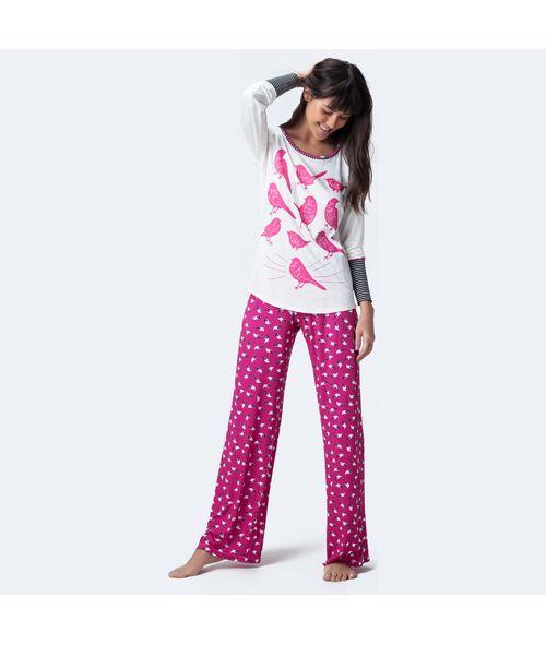 Pijama-Longo-Malha-Birds