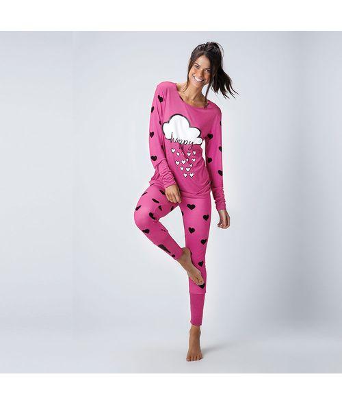 Pijama-Longo-Malha-Love