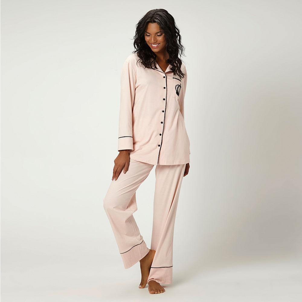 bb127f932 Pijama Longo Malha Dayse - joge