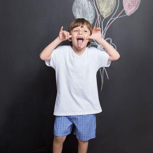 Pijama-Curto-Malha-Ventura-Xadrez-Kids-