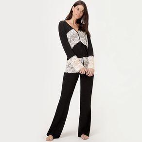 Pijama-Longo-Abotoamento-Malha-Isabela--chumbo