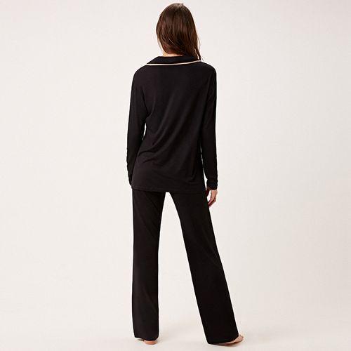 Pijama-Longo-Abotoamento-Malha-Brigite
