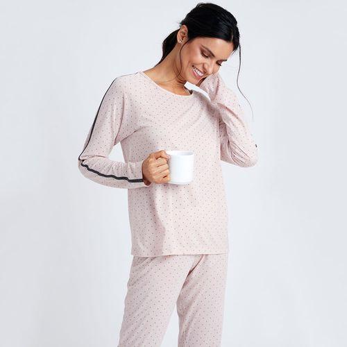 Pijama-Longo-Malha-Bruna