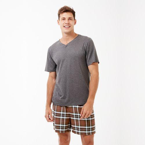 Pijama-Curto-Manga-Curta-Flanela-Artico-Masculino