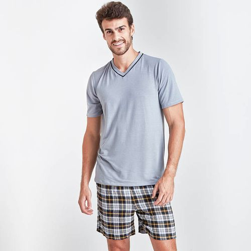 Pijama-Curto-Manga-Curta-Tricoline-Thiago-Masculino