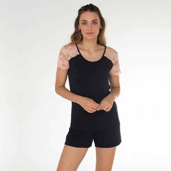 Pijama-Curto-Manga-Curta-Malha-Roma
