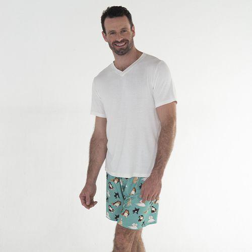 Pijama-Curto-Manga-Curta-Malha-Dogs-Masculino
