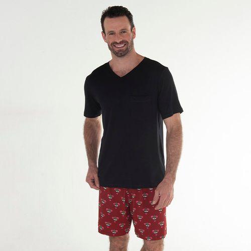 Pijama-Curto-Manga-Curta-Malha-Grecia-Masculino
